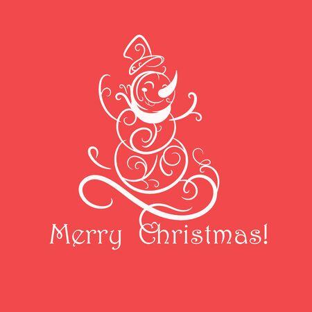 Funny snowman Christmas card