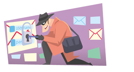 internet thief on the job