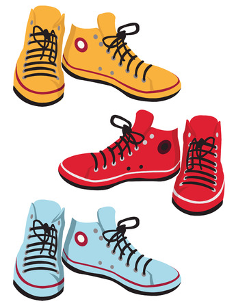 colored gumshoes