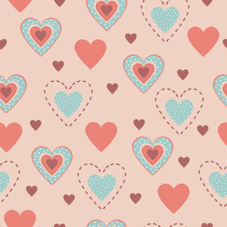 rt: Seamless pattern of hearts Illustration