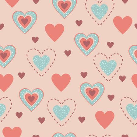 rt: Seamless pattern of hearts Illustration