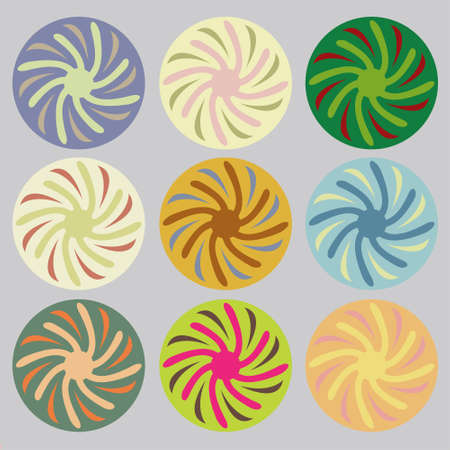 saturated color: set of colored circles