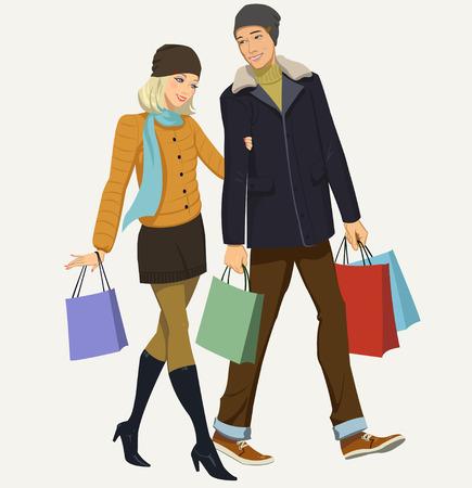 shoppen: Einkaufen Illustration