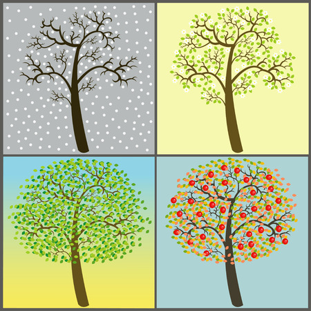withering: trees collection - four seasons