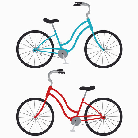 handlebar: two classic bike on a white background