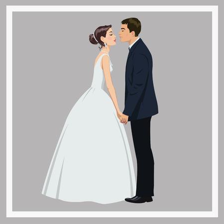 Bruidspaar in de liefde