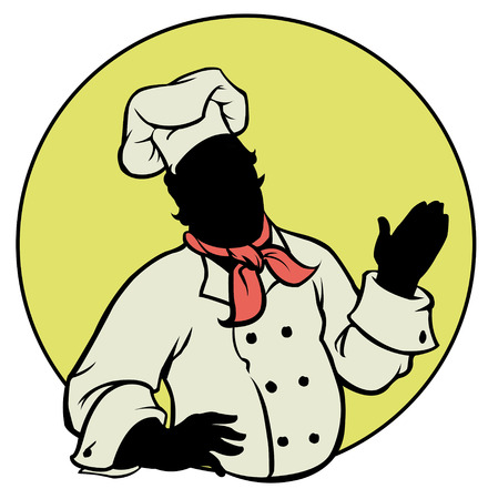 stately: silhouette Chef - Illustration