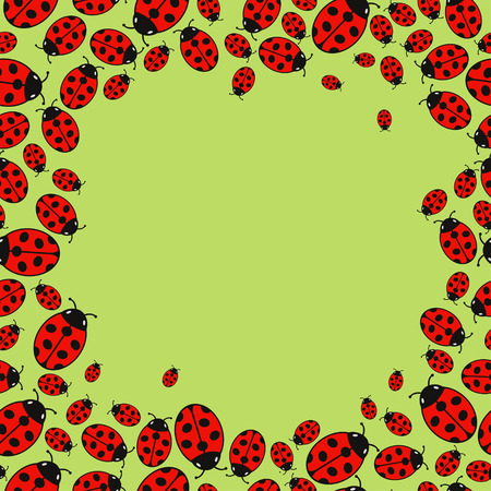 variegated: frame with variegated ladybugs