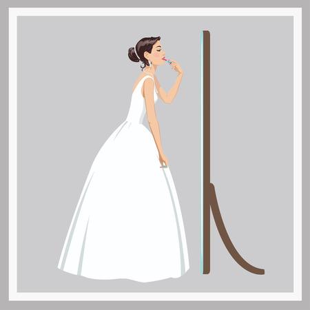 corrects: Bride corrects makeup