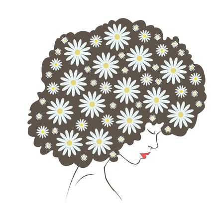 tender: abstract tender flowers hair - Illustration Illustration