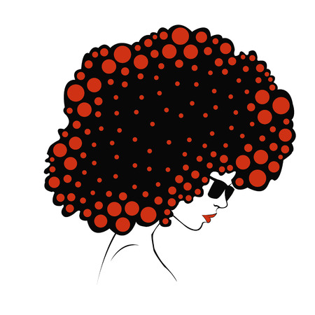 colore: abstract Color round hair - Illustration