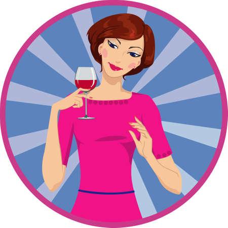 ivresse: fille boire du vin rouge