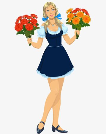 florist: florist girl Illustration