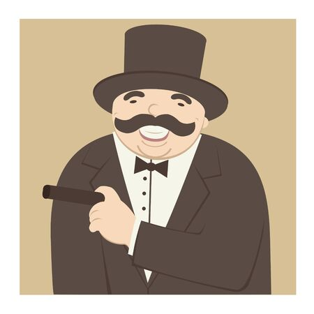 cigar smoking man: man laughing and smoking a cigar