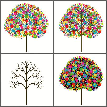 árboles de colores