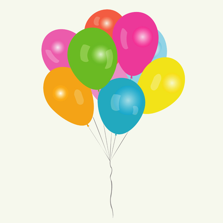 bunch: Bunch of colored balloons