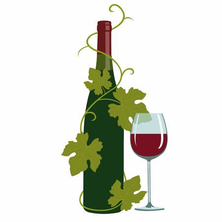 grape leaves: wine and grape leaves