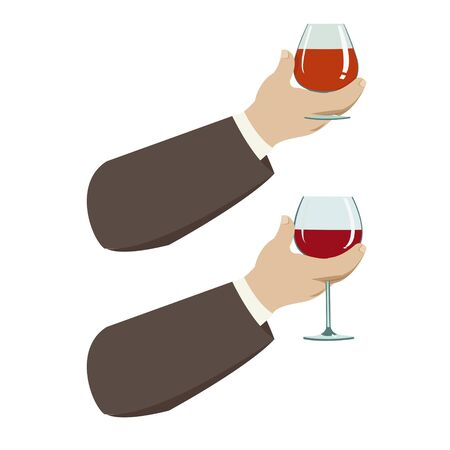 sommelier: hand with glass of wine