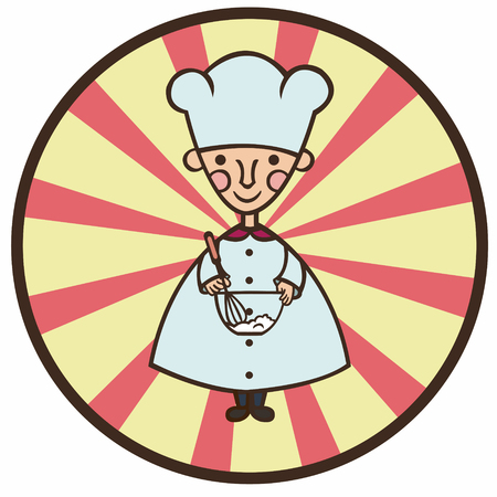 cook cartoon: funny cook cartoon