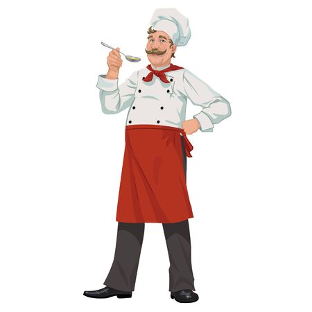 stately: chef with a spoon in his hand