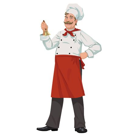 imposing: Chef with a bell