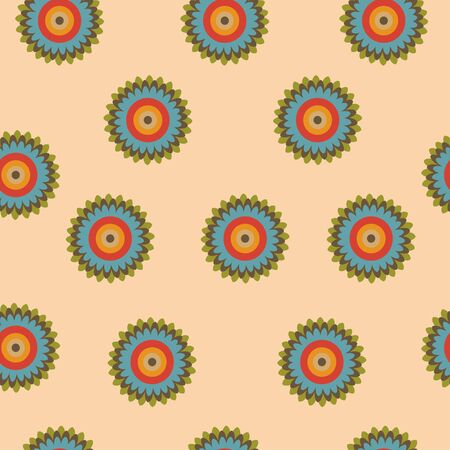arts culture and entertainment: Seamless floral pattern on a light background