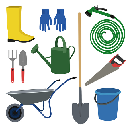 Set for the garden.set of garden workers tools and accessories