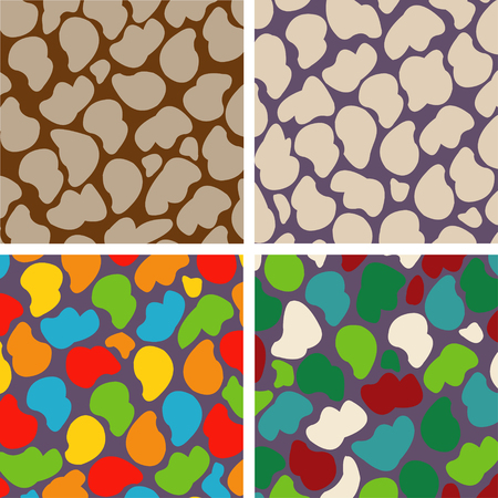set of four seamless abstract stone pattern