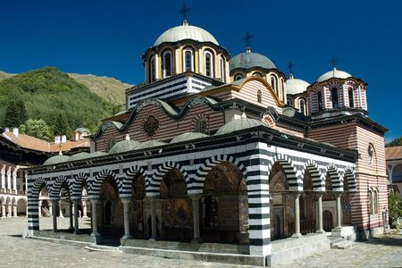 Rila monastery, a famous monastery in Bulgaria photo