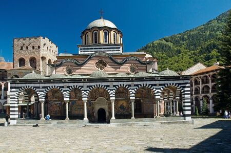 Rila monastery, famous monastery in Bulgaria photo