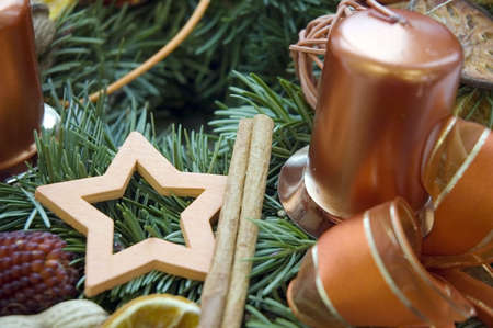 Christmas candlestick photo