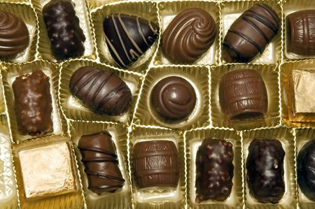 bonbonniere: Photo of chocolate candies in a box