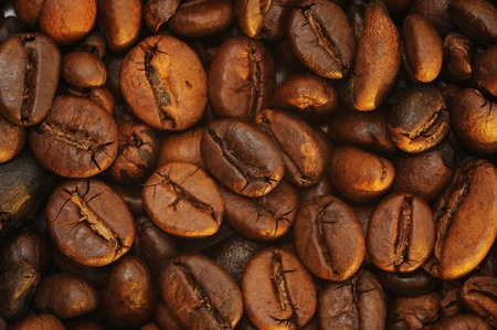A roasted brown coffee beans background photo
