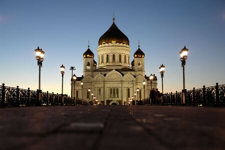 the cathedral has arisen out of the ashes in all of its glory right in the heart of moscow. photo