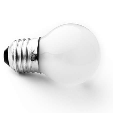 the bulb. electric light on a white background photo