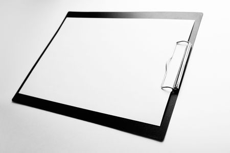 A piece of blank paper on clipboard Stock Photo - 1357539