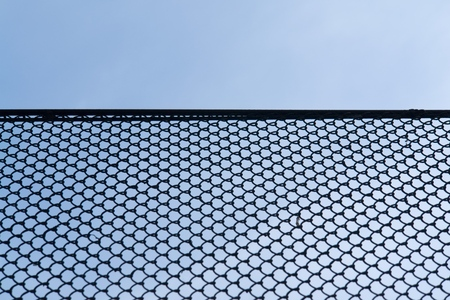 rabitz: Rabitz wire netting with blue sky at background