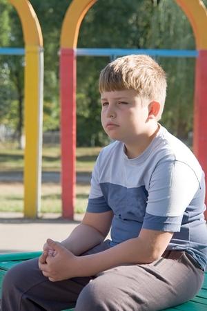 Niño. Triste ojos. Cara triste  Foto de archivo - 1545024