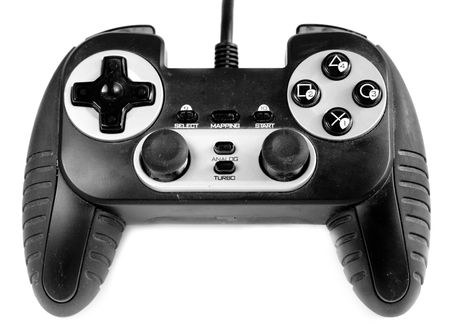 sedentary: The gamepad on a white background