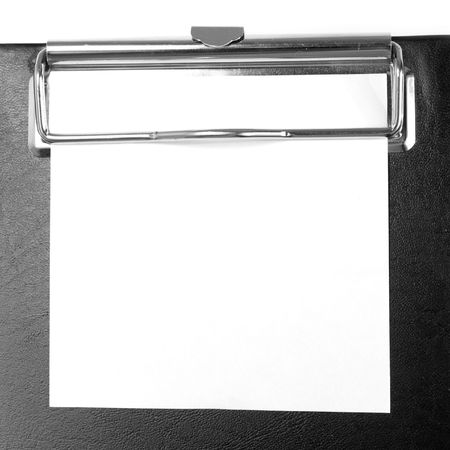 A piece of blank paper on clipboard Stock Photo - 1953798