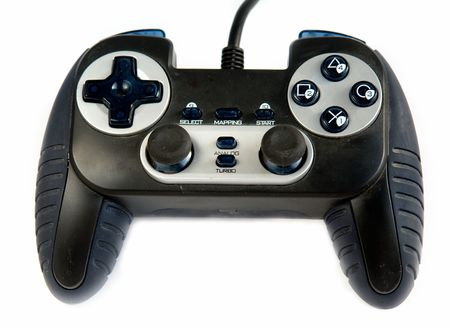 sedentary: The gamepad. Video game controller on white background