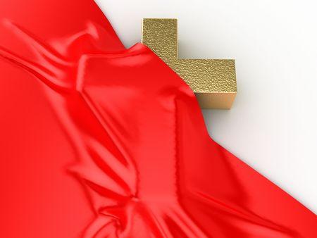 shroud: the True Cross and shroud of Christ Stock Photo