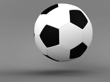 football on a grey background photo