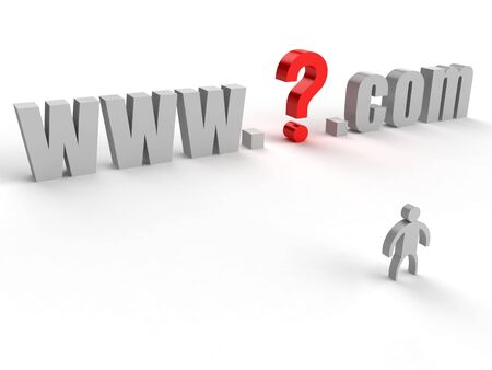 What domain name to choose for the site? Stock Photo - 2554241