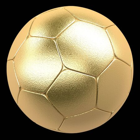 gold football on a black background photo