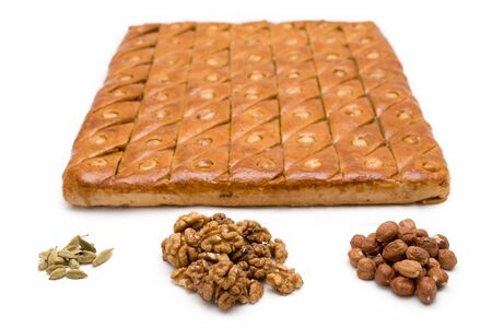 Baklava. East sweets on a white background photo