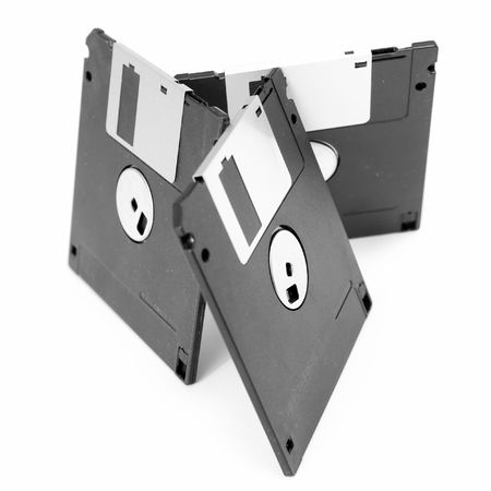 Three diskettes on a white background Stock Photo - 2988245