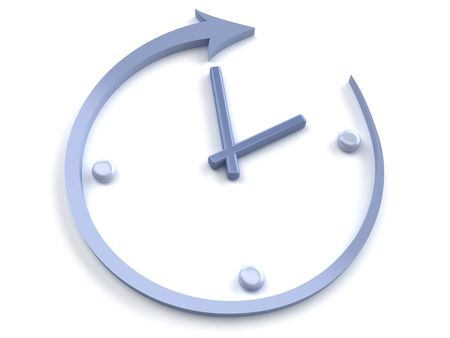 horologe: Abstract clock on a white background Stock Photo