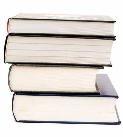 Some thick books on a white background Stock Photo - 3100072