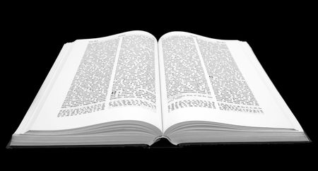 Holy Bible. The big open book close up.